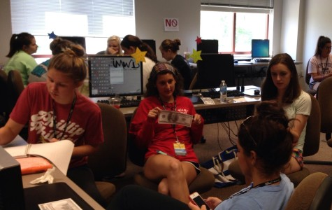 Yearbook students work on coverage