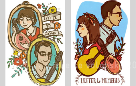 Illustrations of Cahill and Stark illustration via creaturetype.com (blog dedicated to letter to memphis)