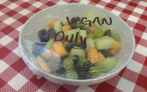 Fruits bowls are offered to students who are vegan at MediaNow. MediaNow offers anyone with dietary preferences an alternative  meal.